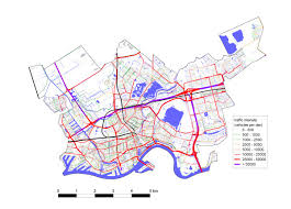map of the road map of the study area rotterdam showing the road network