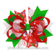 cheap hair bows new christmas ribbon hair bow green boutique kids hair bows with
