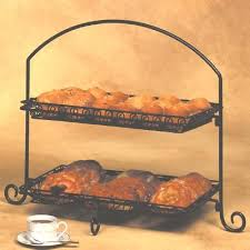tiered serving stand american metalcraft is12 2 tier platter stand black wrought