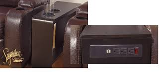 side table with power outlet stylish lilith i side table w usb and power outlet gray end tables