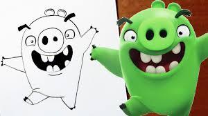 draw minion pig angry birds movie