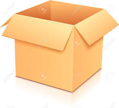 vector yellow empty paper box template for your design royalty
