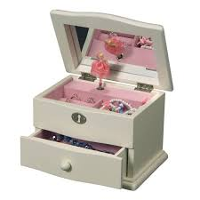 children s jewelry children s musical jewelry box in ivory colored wood