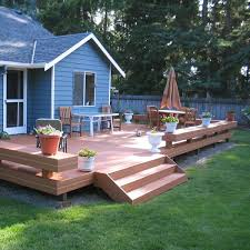composite benches composite deck with benches and planters archadeck outdoor living