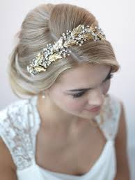 wedding headbands botanical leaf gold headband shop gold bridal