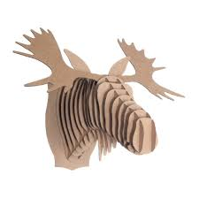 fred cardboard moose head cardboard safari