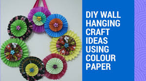 diy colourful paper wall hanging wall decoration with paper