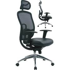 desk chair with headrest hr high back leather mesh office chair with headrest