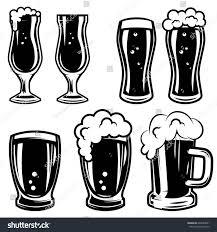mugs design set beer mugs design elements logo stock vector 642889891