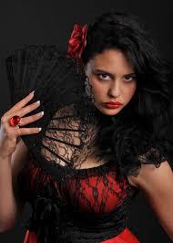 black lace fan flamenco dancer black lace fan