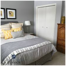 best gray paint colors for bedroom sherwin williams big chill and ellie gray feature wall best gray