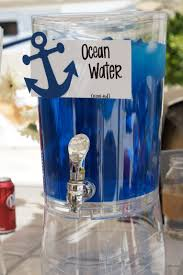 nautical toddler birthday party ideas drink dispenser fruit