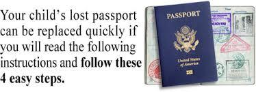 u s passport instructions for lost or stolen passport if children