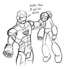 iron man vs megaman sketch by transbot9 on deviantart