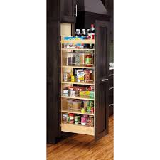 pull out kitchen cabinet rev a shelf 59 25 in h x 5 in w x 22 in d pull out wood tall
