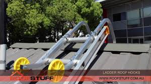 ladder roof u0026 roof zone ladder stabilizer in action