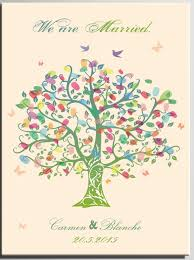 tree guest book diy wedding signature book personalized wedding fingerprint tree