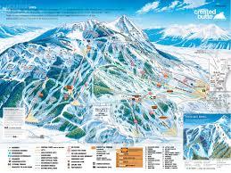 Ski Utah Map by Crested Butte Mountain Resort Skimap Org