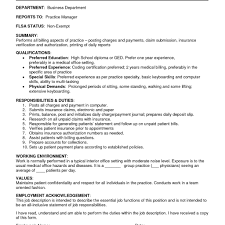 Inventory Specialist Job Description Resume Medical Billing And Coding Jobs Description Inventory Control