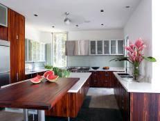 white kitchen cabinets with butcher block countertops wood kitchen countertops hgtv
