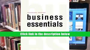 read online business essentials 11th edition ronald j ebert