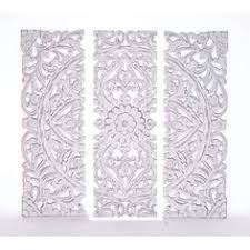 3 panel wood wall 3 panel white swirl design screen room divider null http www