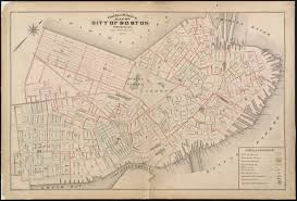 Boston City Map Outline U0026 Index Map Of City Of Boston Proper Norman B Leventhal
