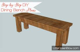 pottery barn inspired diy dining bench plans