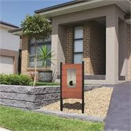 northcote pottery red elite caloundra pillar letterbox bunnings