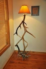 deer antler table lamp foter