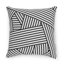 black patterned cushions evermade stripe cushion red candy