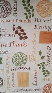 autumn harvest thanksgiving large vinyl tablecloth 52x90 flannel
