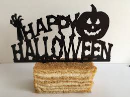 halloween cake topper halloween decoration happy halloween sign