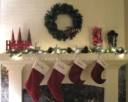 Reindeer Christmas Decorations Make by Ideas Feasible Christmas Themed Fireplace Mantel Decorating