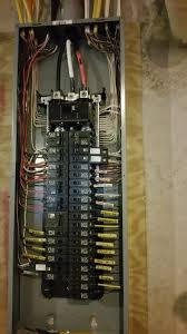 finished terminating 200a square d electrical panel box for home