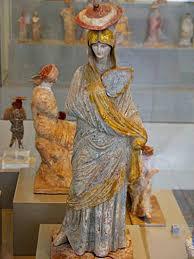 statue with ταναγραία altes museum βερολίνο 325 π χ ancient statue