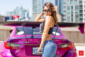 widebody lexus ls instagram model tianna g connects with pink widebody lexus rc f