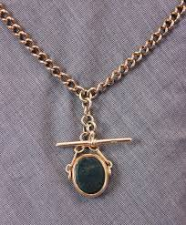 watch chain necklace images Antiques atlas antique rose gold double watch chain necklace jpg