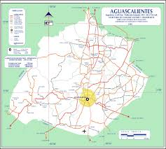 Mexico Maps Aguascalientes Mexico Road Map U2022 Mapsof Net