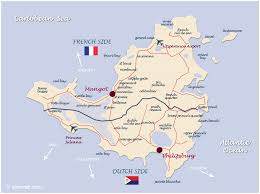 island on map map of the caribbean islands st martin island caribbeans