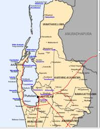 Map Of Sri Lanka Traditional Sinhala Place Names Of Towns In The North And East Sri