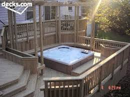 Deck Patio Design Pictures by 76 Best Tubs Tub Decks Images On Pinterest Backyard