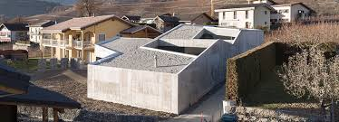 architecture designs swiss home resembling concrete fortress