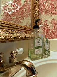 Toile Bathroom Wallpaper by Be Book Bound Pride And Prejudice A Toile Powder Room
