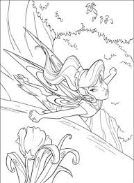 vidia tinkerbell coloring cartoon coloring pages