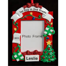 2nd grade picture frame personalized ornaments by