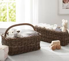Changing Table Basket Taupe Sabrina Nursery Baskets Pottery Barn