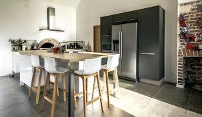 ilot central cuisine contemporaine cuisine en l avec ilot central cuisine moderne chambray les tours
