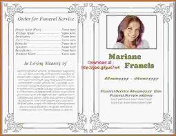 Funeral Programs Samples Funeral Programs Samples Enwurf Csat Co