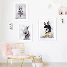 rabbit prints poster prints nordic decoration nursery girl wall canvas